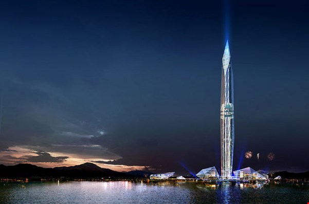 A High, Flamboyant Yet Invisible Tower in Seoul