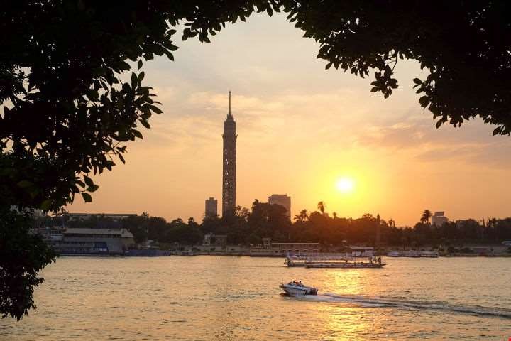 Nile River Sunset-Nile River Sunset