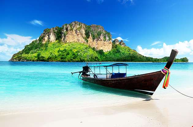 long-boat-and-poda-island-in-thailand-Long Boat And Poda Island In Thailand