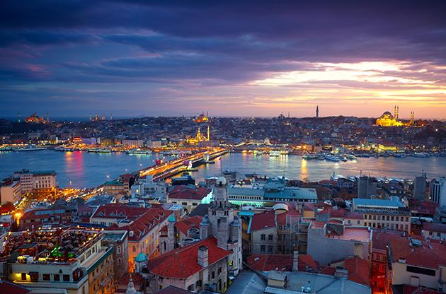 Istanbul Sunset Panorama-Istanbul Sunset Panorama