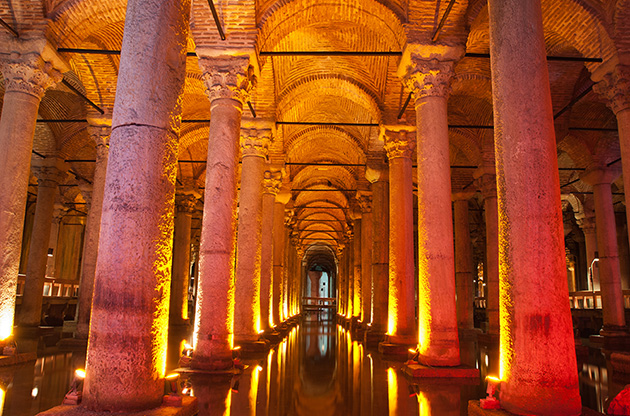 underground-basilica-cistern-istanbul-turkey-Underground Basilica Cistern Istanbul Turkey