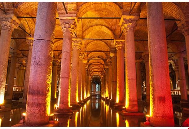Underground Basilica Cistern Istanbul Turkey