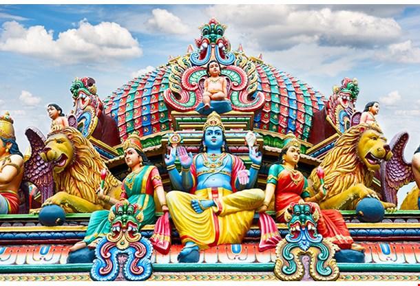 Detail Of Sri Mariamman Temple In Singapore
