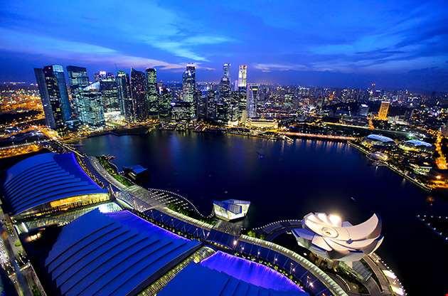 singapore-city-at-night-Singapore City At Night
