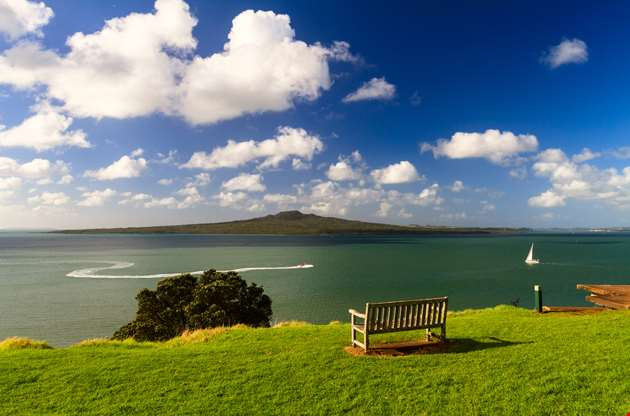 rangitoto-island-from-devonport-auckland-Rangitoto Island From Devonport Auckland