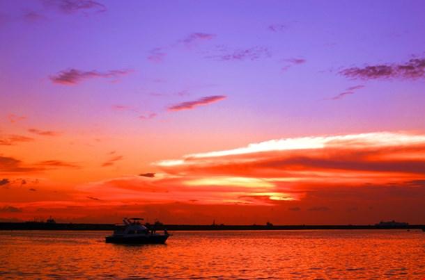 Dramatic Sunset At Manila Bay, Philipines