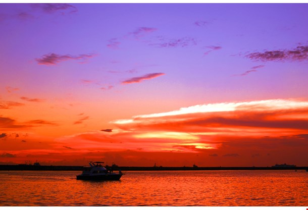Dramatic Sunset At Manila Bay, Philipines