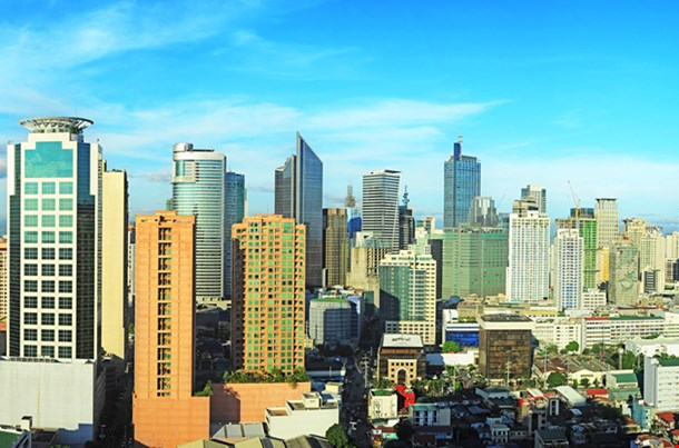 Modern Financial And Business District Of Manila, Philippines
