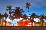 miami-beach-florida-hotels-and-restaurants-at-sunset-Miami Beach Florida Hotels And Restaurants At Sunset
