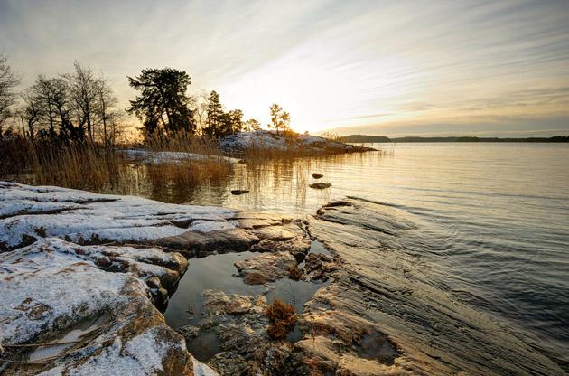 setting-sun-in-winter-turku-Setting Sun in Winter Turku
