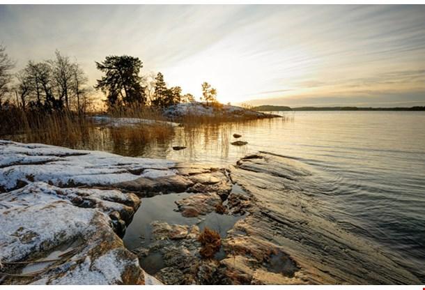 Setting Sun in Winter Turku