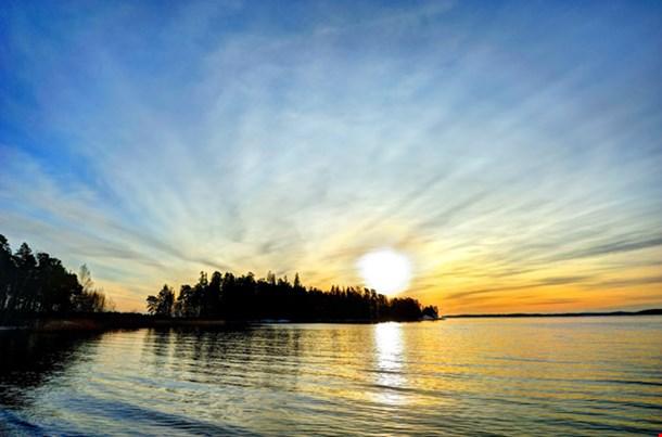 Winter Sun Setting Down Turku