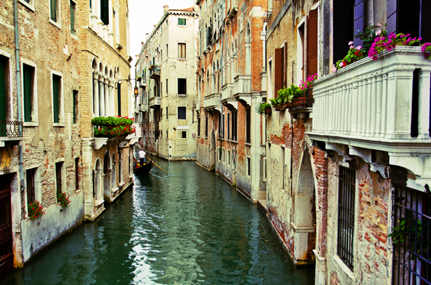 grand-canal-and-historic-tenements-venice-Grand Canal And Historic Tenements Venice