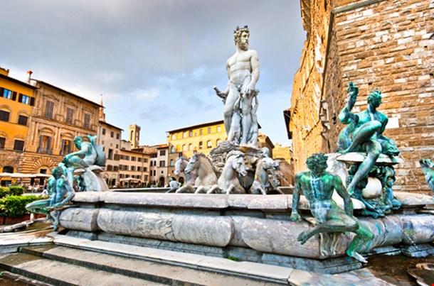 Fountain of Neptune on Piazza Della Signoria