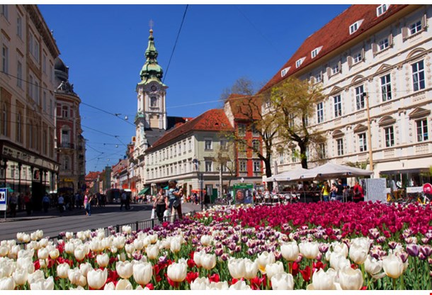 Graz Old Town Street View