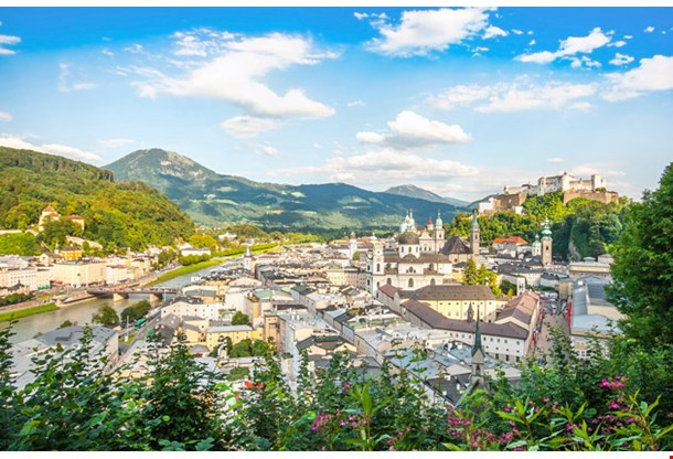 Beautiful View of the Salzburg