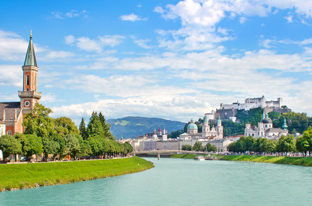 panoramic-view-of-salzburg-skyline-with-festung-Panoramic View of Salzburg Skyline With Festung
