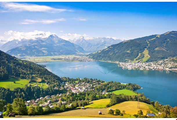 Zell Am See With Zeller Lake