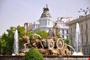 majestic-cibeles-fountain-on-plaza-de-cibeles-in-madrid-Spain-Majestic Cibeles Fountain On Plaza De Cibeles In Madrid Spain