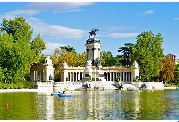 Monument To Alonso XII Buen Retiro Park Madrid