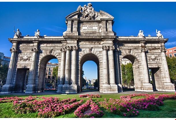 Puerta De Alcala Is A Monument In The Plaza De La Independencia, Madrid