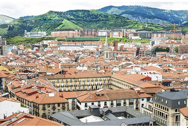 Views Of Old Town With Cathedral Santiago Bilbao