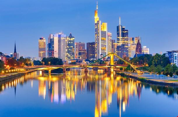 Frankfurt Am Mine at Night