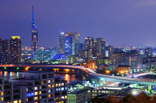 cityscape-of-fukuoke-Cityscape Of Fukuoke
