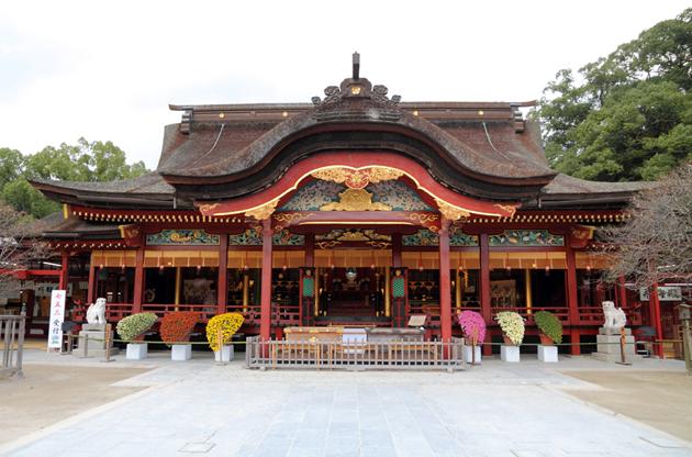 japanese-shrine-in-kyushu-dazaifu-tenmangu-Japanese Shrine In Kyushu Dazaifu Tenmangu