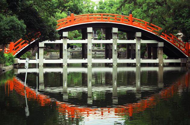 taiko-bashi-at-sumiyoshi-grand-shrine-Taiko Bashi At Sumiyoshi Grand Shrine