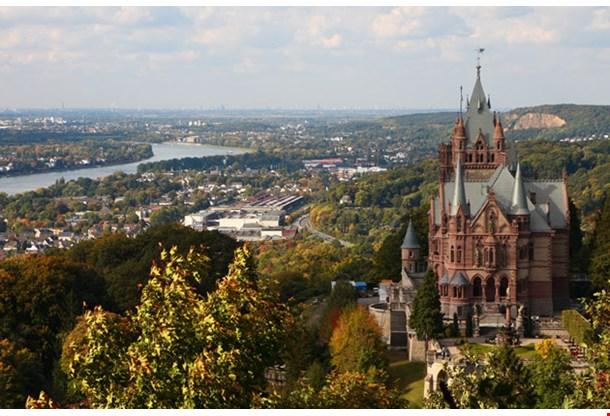 Drachenfels Castle and River Rhine Bonn