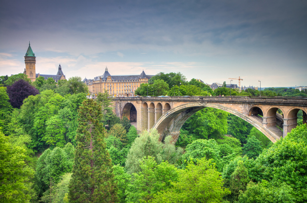 luxembourg-city-panorama-Luxembourg City Panorama