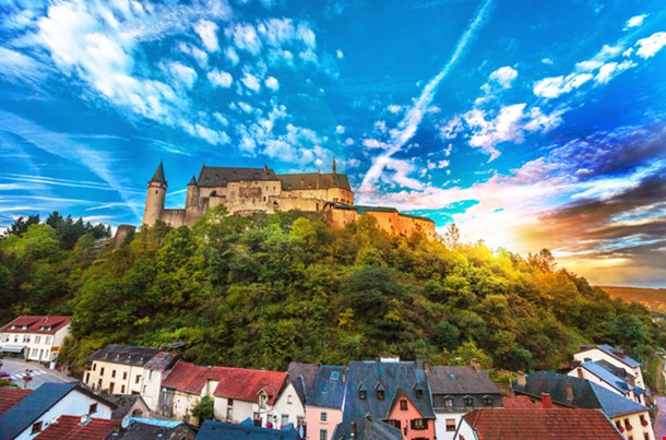 The Beautiful Medieval Castle In Vianden, Luxembourg
