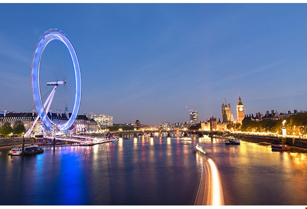 London Eye And Big Ben On The Banks Of Thames River