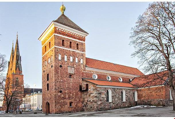 12th Century Holy Trinity Church In Uppsala