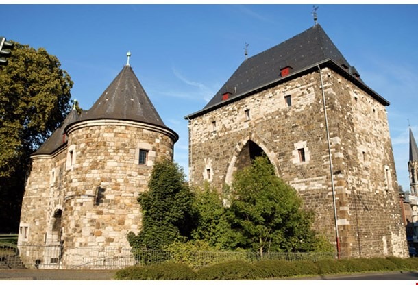 Ponttor the Medieval City Gate of Aachen