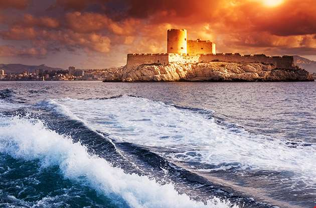 Chateau D If Marseille France Colorful Seascape-Chateau D If Marseille France Colorful Seascape