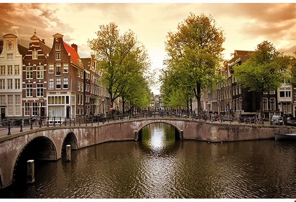 Amsterdam Canal Bridge The Netherlands