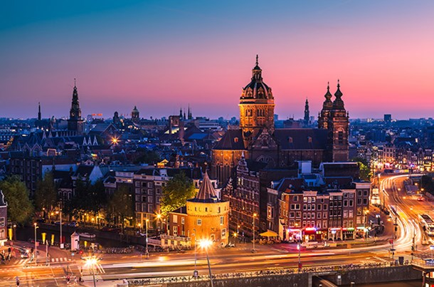 Amsterdam City At Night