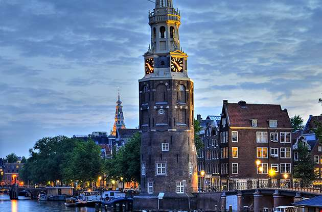 amsterdam-netherlands-sunset-Amsterdam Netherlands Sunset