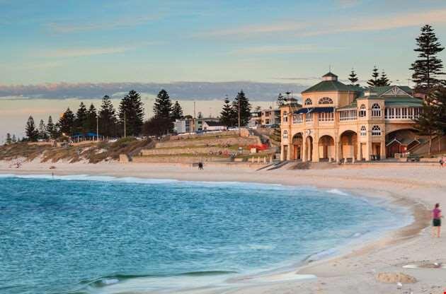 Cottesloe Beach In Perth-Cottesloe Beach In Perth