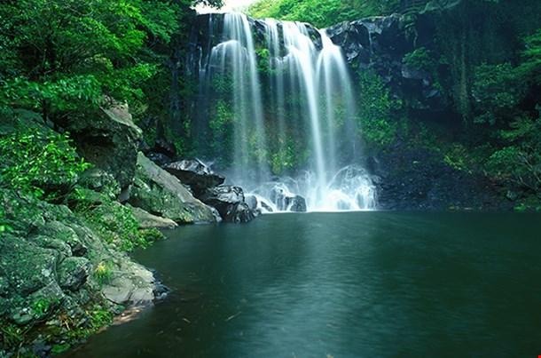Chunjeyun Waterfall Of Jeju Island