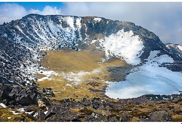 Hallasan Mountain Volcanic Crater At Jeju Island