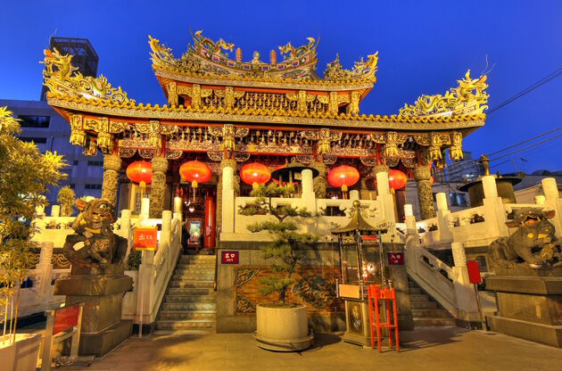 Kwan Tai Temple In Chinatown Of Yokohama-Kwan Tai Temple In Chinatown Of Yokohama