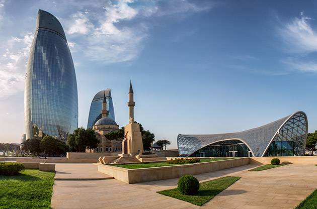City View Of The Capital Of Azerbaijan Baku-City View Of The Capital Of Azerbaijan Baku