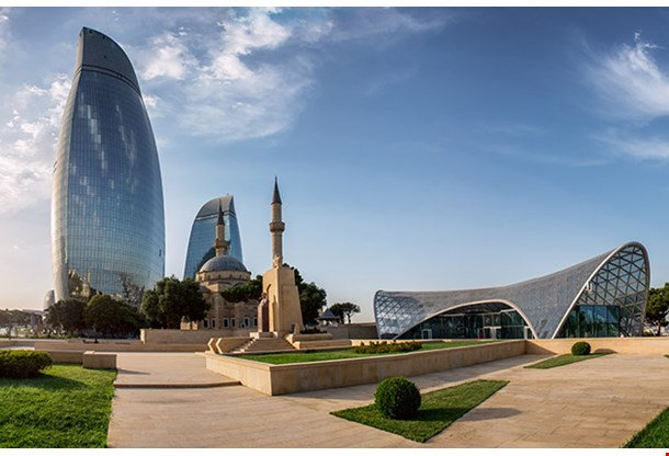 City View Of The Capital Of Azerbaijan Baku