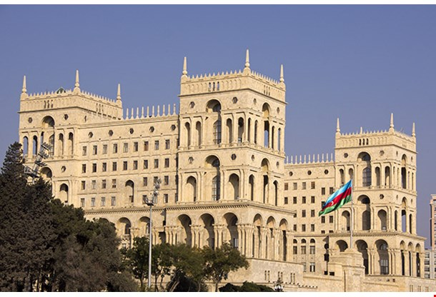 Government House On Freedom Square Baku Azerbaijan