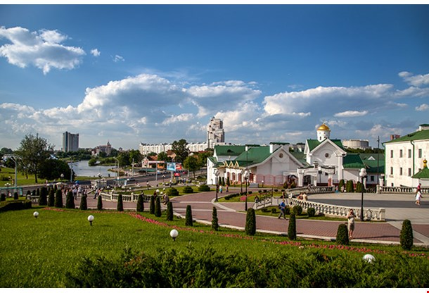 Old Town Square Of Minsk