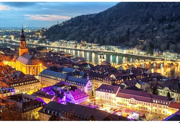Heidelberg Germany At Night