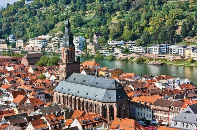 River Neckar Heidelberg-River Neckar Heidelberg